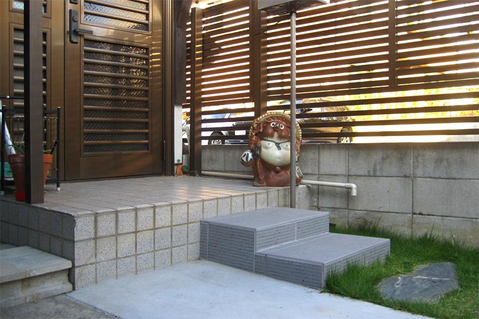 名古屋市昭和区 踏み石再利用エクステリア