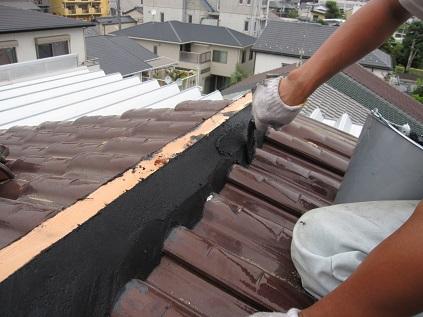 名古屋市昭和区IH様邸 屋根雨漏れリフォーム Part3 – 棟瓦