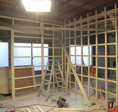 名古屋市昭和区TH様邸 戸建リノベーション 第一期Part2 – 天井・壁の下地作成