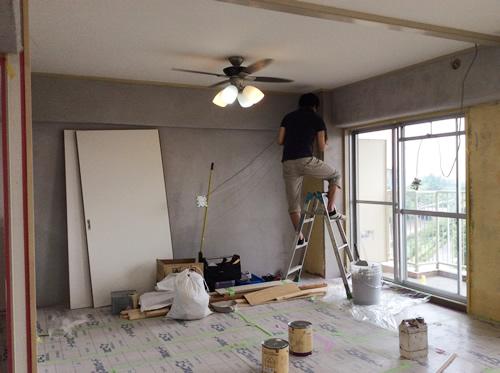 名古屋市瑞穂区スタッフN邸 マンションリフォーム Part6-壁モルタル塗り&塗装