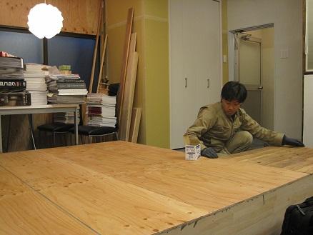 名古屋市昭和区 エイトワークス オフィスリフォームプロローグ9 – 棚を間仕切り家具に