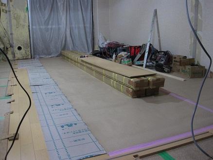名古屋市瑞穂区KG様邸 マンションリノベーション Part7 – 床の仕上げ