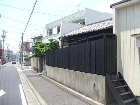 名古屋市昭和区KD様邸 木塀(ウッドフェンス)Part4 – 和風の塀完成