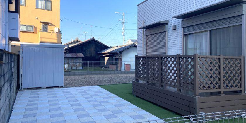 北名古屋市 お庭でバーベキューができるエクステリア