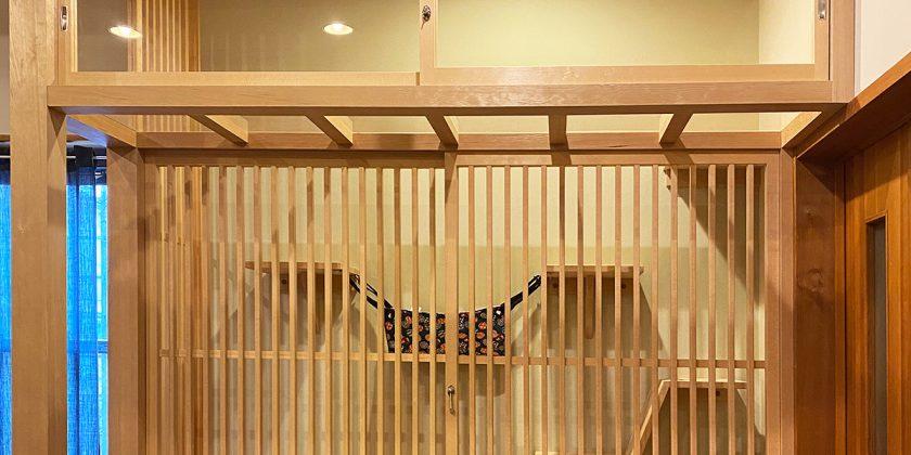 名古屋市瑞穂区 リビングにネコちゃん専用の「ねこべや」を制作